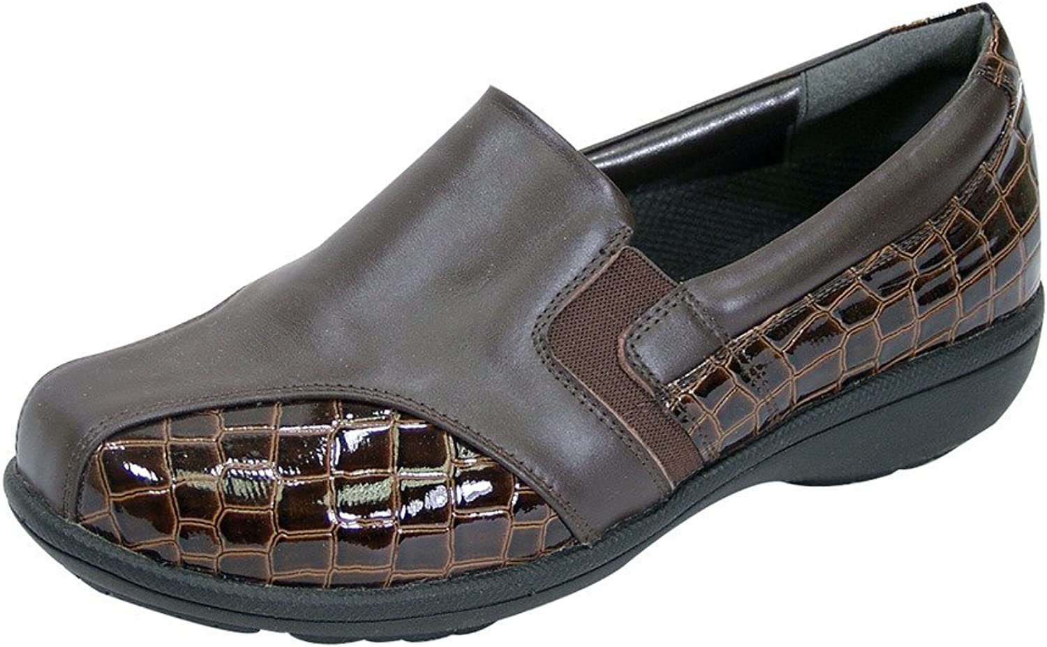 Peerage FIC Agatha Women Extra Wide Width Dress Loafer Brown 8.5