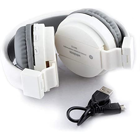 Spanking generic SH-12 Wireless Bluetooth On Ear Headphone with Mic (Transparent)