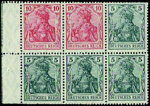 Goldhahn Deutsches Reich Heftchenblatt Nr. 23 postfrisch - Germania - Briefmarken für Sammler