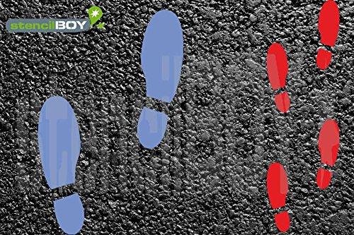 Schuhabdruck - Fußabdruck Bodenmarkierungs-Schablonen Set1 (Links/Rechts)