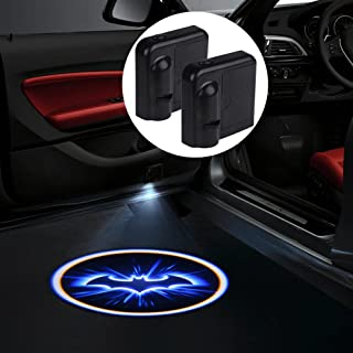 Bat Door Light, 2pcs Universal Wireless LED Car Door Welcome Light Courtesy Welcome Led Projector Logo Batman Lamp Battery Operated with Magnet Sensor