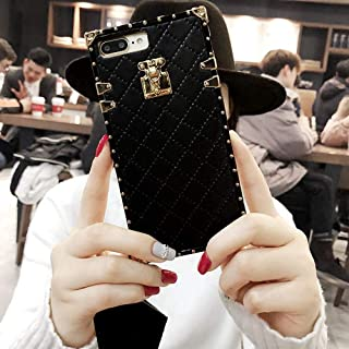 "Compatible for iPhone 12 PRO 6.1"" Case,BabeMall Elegant Diamond Luxury Plating Corner Square PU Leather Classic TPU Bumper..."