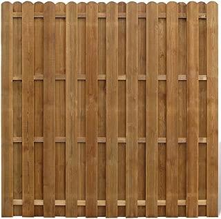 vidaXL Panel de Valla Cuadrado Jardín Madera Marrón