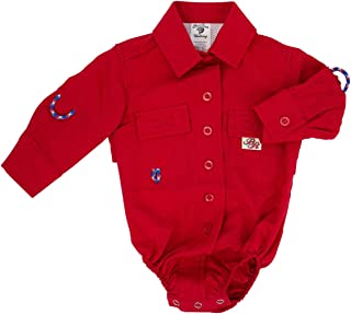 bull red infant fishing shirt