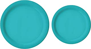 """100 Count Teal Paper Plates 
