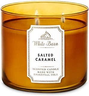 White Barn Bath & Body Works 3 Wick Candle Salted Caramel
