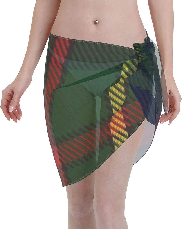 2053 pants Gow Hunting #2 ClanFamily Tartan Women Chiffon Beach Cover ups Beach Swimsuit Wrap Skirt wrap Bathing Suits for Women