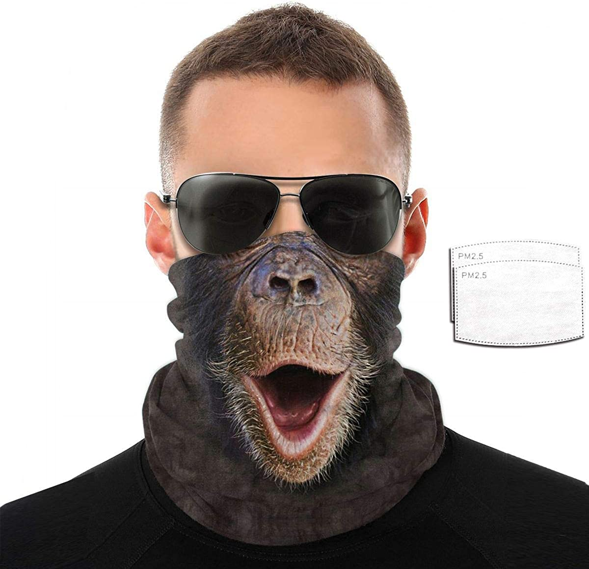 Unisex Multi Dust-Proof Print Reusable Mouth Cover Face Cover,Black