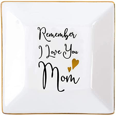 Mother/'s Day Gift Jewelry Dish Ring Holder Wooden Ring Holder Dish- Jewelry Tray