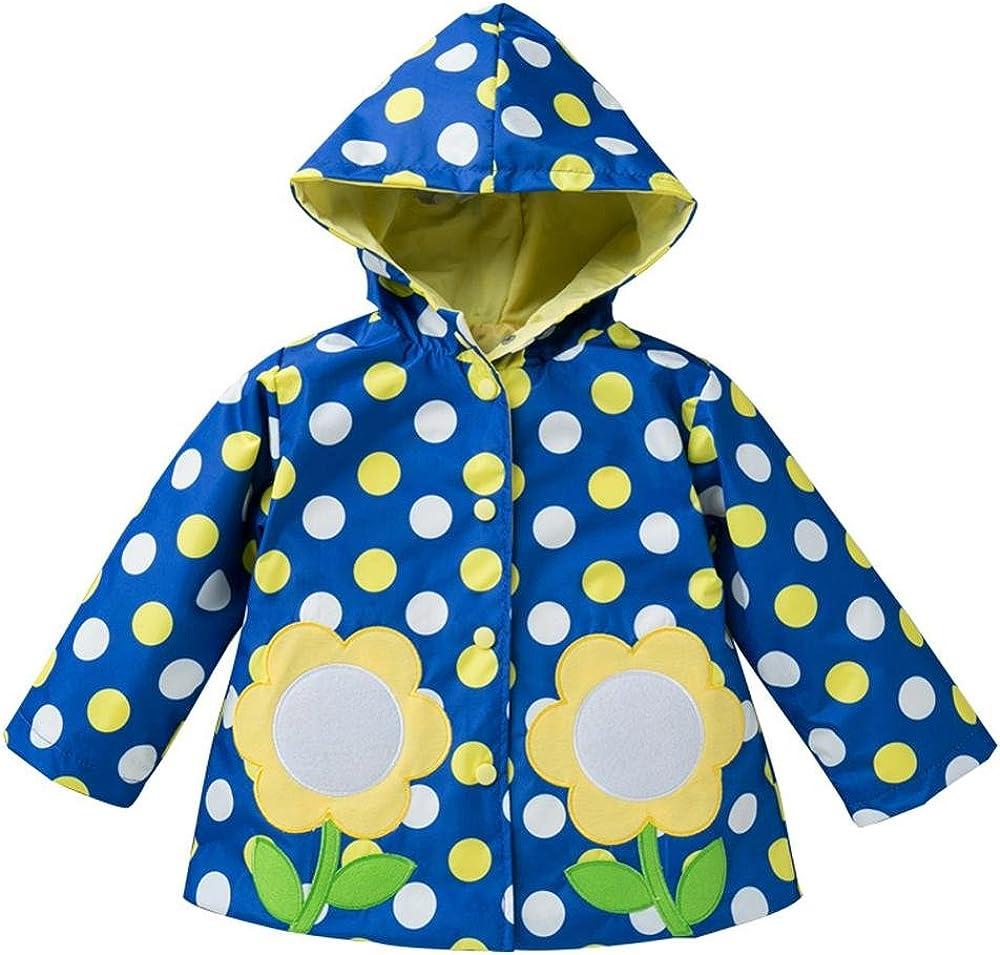 Wennikids Baby Girls Boys Raincoat Windbreaker Hooded Bomber Outerwear Clothes Jacket