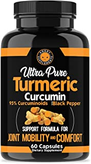Angry Supplements Ultra Pure Turmeric Curcumin with BioPerine, Black Pepper Extract, 95% Curcuminoids, All Natural Powerfu...