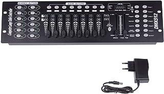 Dmx Console,UKing 192 Canaux Dmx 512 Controller Table Dmx 192 Canaux Contrôleur pour éclairage de scène Party DJ Disco Ope...