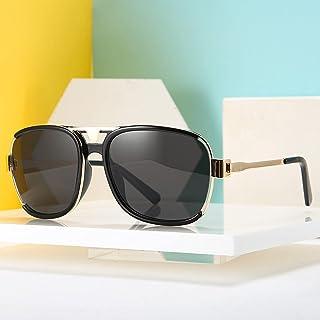 Round big frame double beam sunglasses female sun glasses European and American street photography sunglasses