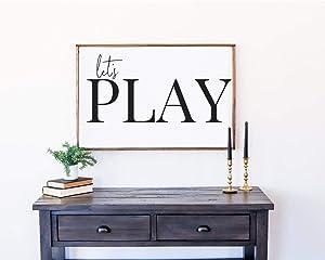 Tamengi Let's Play Sign   Playroom Wall Decor   Farmhouse Kids Room   Farmhouse Wall Decor 12