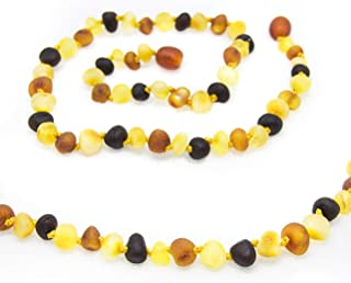 The Art of Cure Baltic Amber Necklace 17 Inch (raw multicolored) - Anti-inflammatory