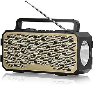 سماعة لاسلكية بلوتوث 5.0 من Goolrc مشغل مصباح يدوي الصوت متعدد المؤثرات الصوتية يدعم مكبر الصوت AUX TF USB للليل في الهواء...