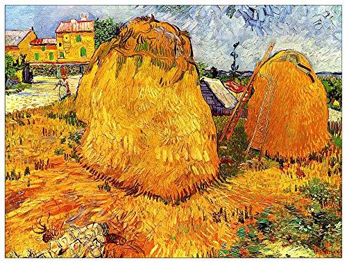 ArtPlaza Van Gogh Vincent-Haystacks in Provence II Panel Decorativo, Madera MDF, Multicolor, 80x60 Cm