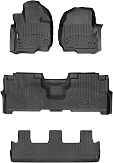 WeatherTech Custom Fit FloorLiner for Expedition/Navigator - 1st, 2nd, 3rd Row (Black)