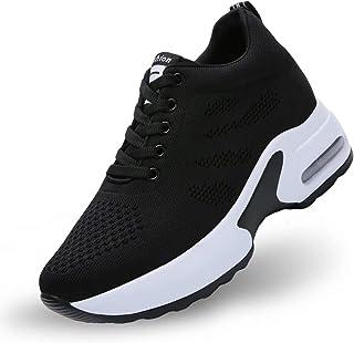 GURGER Baskets Femmes Compensées 8CM Chaussure de Sport Plateforme Sneakers Basses