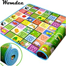Extra Large Baby Crawling Mat Baby Play Mat Game Mat, Womdee Waterproof Baby Crawling Thickening Mat Drawing Alphabet Figures Animals Pattern Mat, 70 x 78 inches