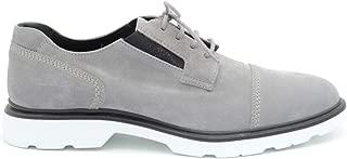 HOGAN Luxury Fashion Mens MCBI36707 Grey Lace-Up Shoes | Season Outlet
