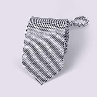 Men's Zip Tie Multiple Solid Colors Striped Business Suit Tie 48 × 8cm MSJQQ (Color : E)