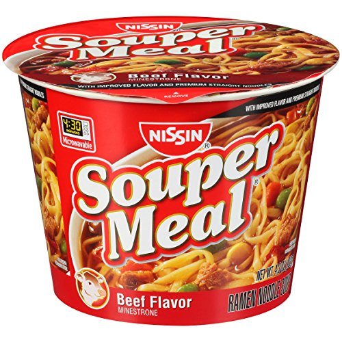 Nissin Beef Flavor Souper Meal Noodles Cup (Case of 6)