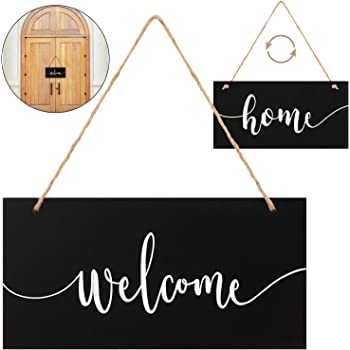 Welcome Sign Wooden Home Door Sign for Front Door Home Sign Front Porch Hanging Decor Home Farmhouse Drawing Room Sign