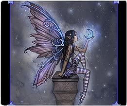 CafePress Little Blue Moon Fairy Fantasy Art Soft Fleece Throw Blanket, 50