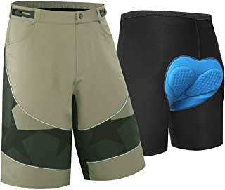 NBWS 4D Padded Bike Shorts Men, Breathable Bicycle Cycling Shorts Underwear, Breathable and Adsorbent Lightweight With Sof...