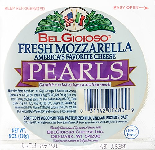 Belgioioso, Fresh Mozzarella Pearls Cup, 8 oz
