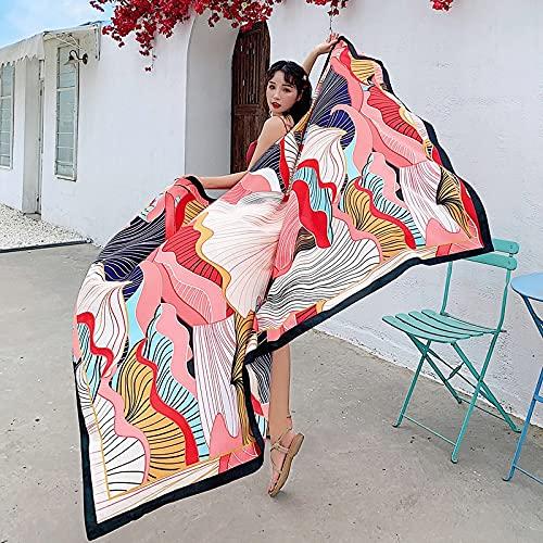 Vcnhln Toalla de Playa de Viaje Bufanda étnica Retro Grande sombrilla de Mujer Manta Tejida de algodón Retro Cashmere Yoga 190x140 cm
