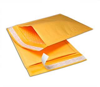 """Madishan Kraft Bubble Mailers - Set of 300 - #2 8.5"""" x 12"""" Inch Yellow Self Seal Bubble Wrap Mailers – Padded Shipping Envelopes, Durable Opaque Design"""