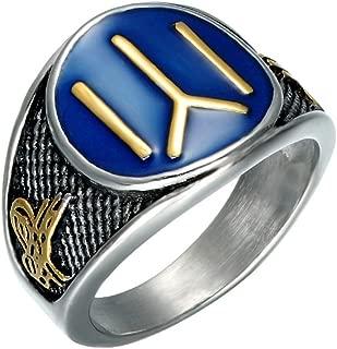 Men's Stainless Steel Ottoman Empire Cool Kayi IYI Signet Ring Dirilis Ertugrul Symbol Jewelry
