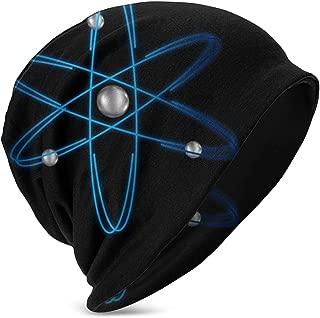 Atom Atomic Isolated Physics Boy's Girl's Hat Kids Knit Beanie Hats Skull Caps Black