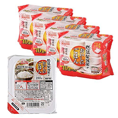 アイリスオーヤマ パック ごはん 国産米 100% 低温製法米のおいしいごはん 非常食 米 レトルト 180g×40個