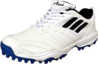 XAQUA Boys T-20 Sports PU Cricket Shoes