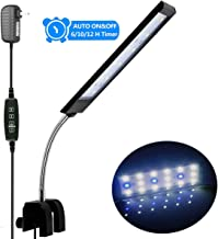 MingDak Fish Tank Clip on Light with Timer & Dimmer Multifunction Controller,Aquarium Clip Light,Dimmable White & Blue