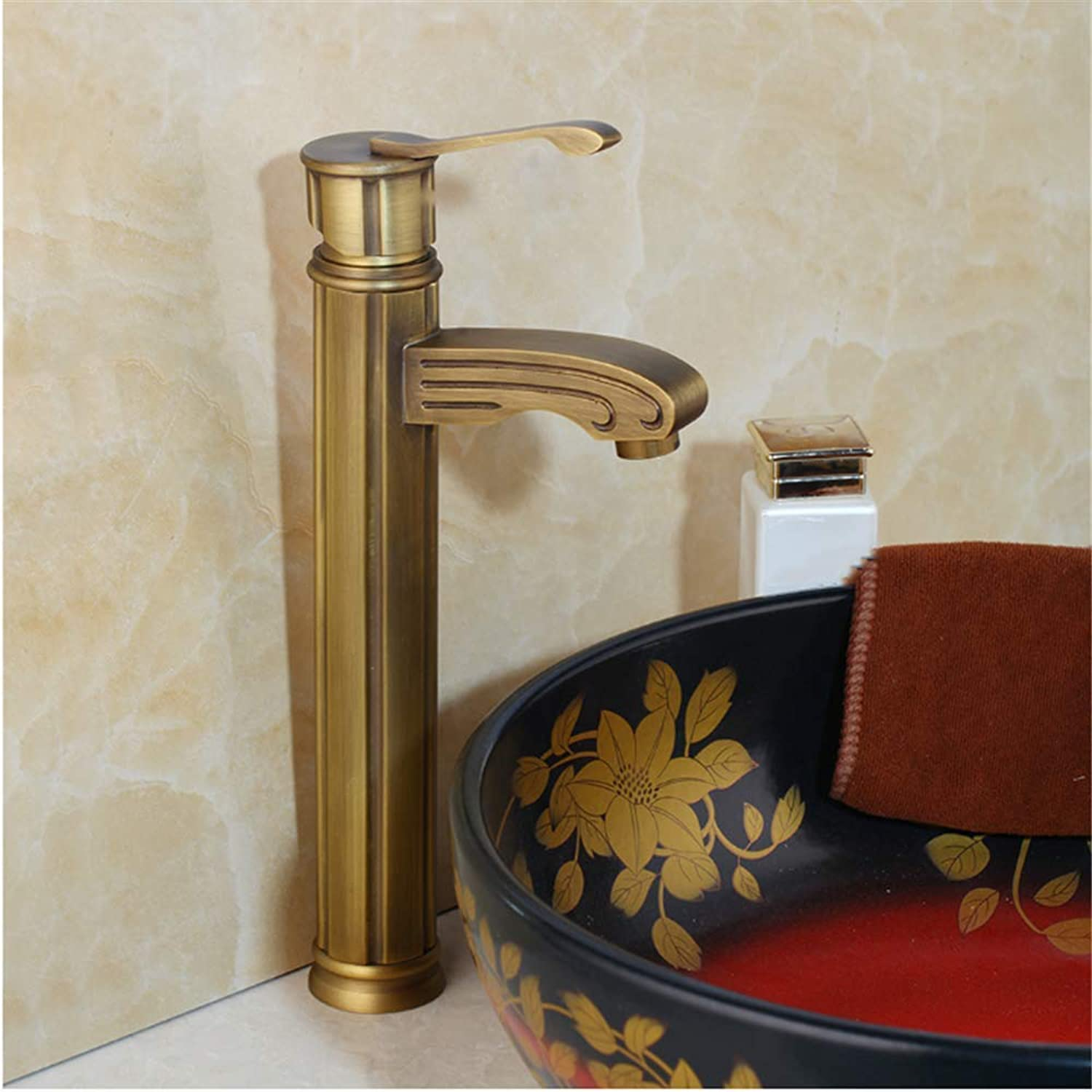 Wasserhahn küche bad Bathroom Basin Sink Faucets Antique Brass Deck Mounted Single Handle hole Mixer Tap Single Handle