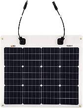 Richsolar 50 Watt 12 Volt Extremely ETFE Flexible Monocrystalline Solar Panel Ultra Lightweight