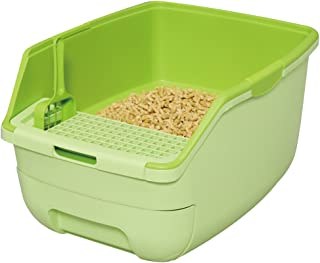 アイリスオーヤマ システムトイレ用 楽ちん猫トイレ フード無しセット グリーン