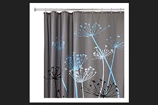 InterDesign 72 in. H x 72 in. W Gray Thistle Shower Curtain