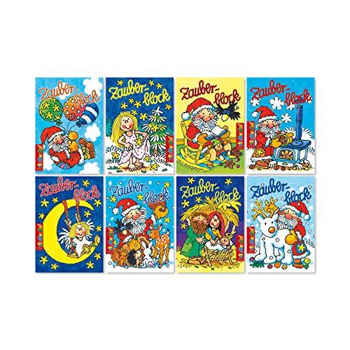 Lutz Mauder 8 Zauberblöckchen im Set - Weihnachten (A8 -7,5x5,2cm) - 8 Motive