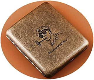 YZY General Pattern Cigarette Case, 20 Packs Of Portable Men's Stainless Steel Personality Retro Gold Creative Is A Cigarette Holder, Cigarette Box (Color : Bronze)