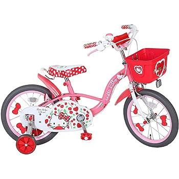 エム・アンド・エム 子供用自転車 18インチ ハローキティ チェリー 補助輪・ハンドルポーチ付 ピンク 小