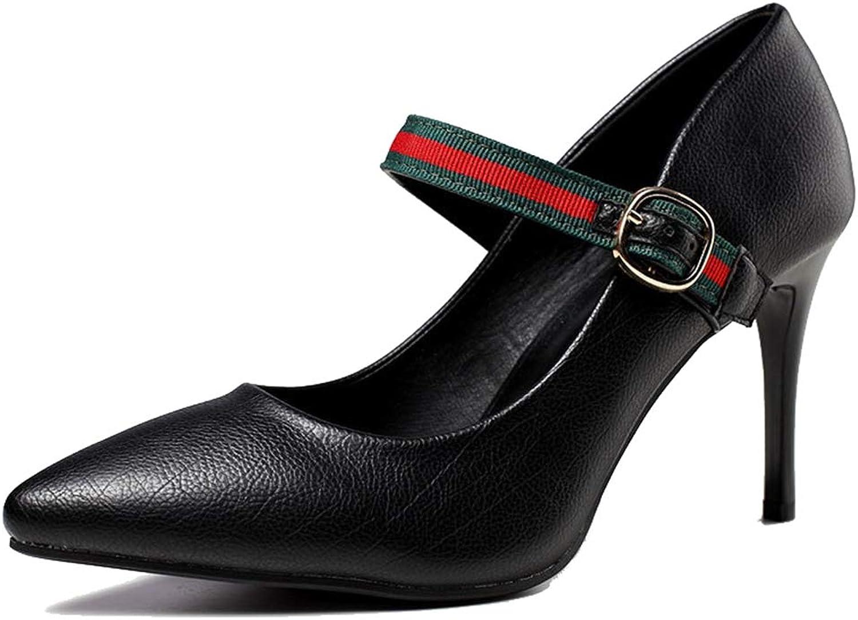 Sam Carle Women's Pumps,Wear Resistant Slip-on Fashion Black orange Business High Heel
