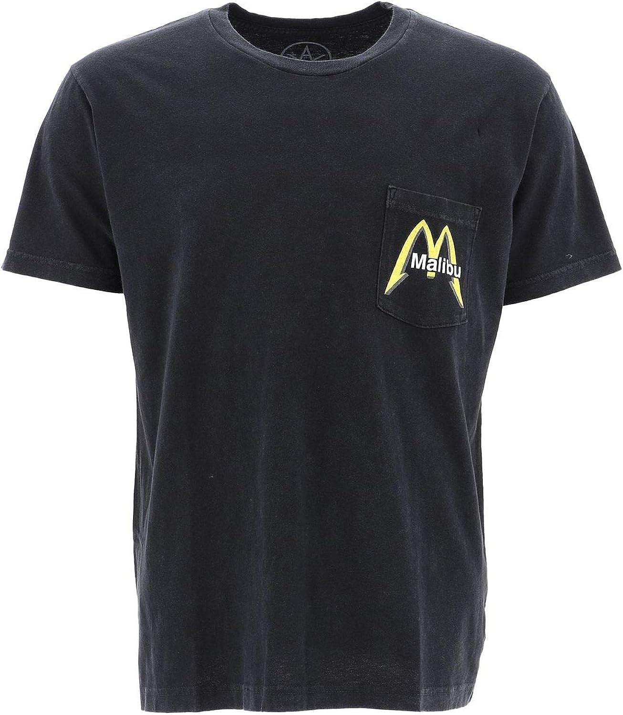 LOCAL AUTHORITY Men's A19SSP09WASHEDBLACK Black Cotton TShirt