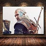 DIY Pintar por números Witcher Warrior Jeux Vidéo Art Peinture pintar por numeros personalizado Con pincel y pintura acrílica pintura para adultos por kits de números obras de50x70cm(Sin marco)