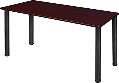 "Regency Kee Training & Activity Table with with Slim Lightweight Tabletop, 48"" x 24"", Mahogany/Black"