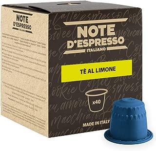Note D'Espresso Tè al limone, Bevanda in capsule, 8 g x 40